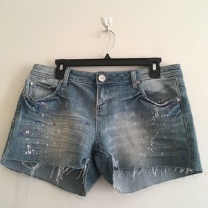 Cut-Offs paint splatter Jean Shorts